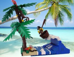 Will the pirate land safe and sound on the beach?