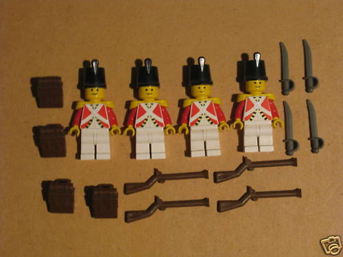 Go to eBay to buy this nice set of Redcoat Soldiers!