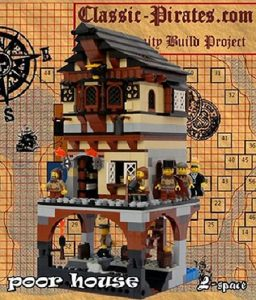 Salvation Army house poor Lego pirate rich Community Build chairty help rescue tax evasion