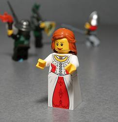 New LEGO® Kingdoms Maiden Minifig
