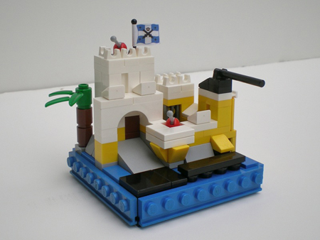 Micro-scale Eldorado Fortress by Pallaeon on Classic-Pirates.com