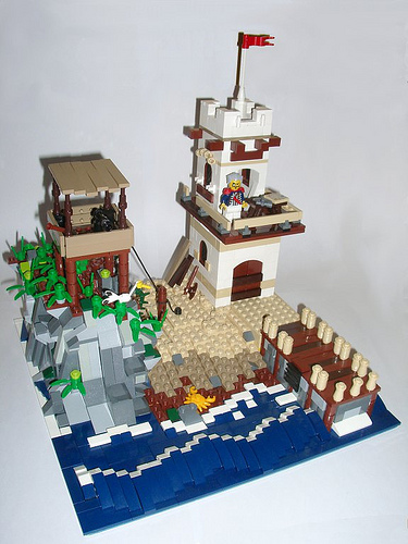 Sir Wellingtons Outlook, a pirate and soldiers fort in LEGO!