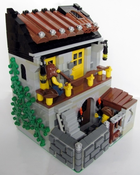 Paddles' Inn, a land-based Lego creation by MetroiD
