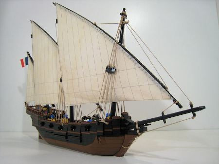 French Navy Xebec, a ship MOC by Bonaparte