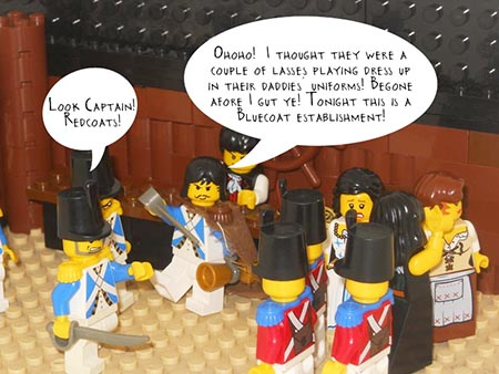 Will the blue coats keep the red coats out of their pub?