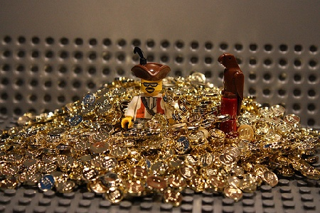 Gold LEGO coins of our user Stash2Sixx