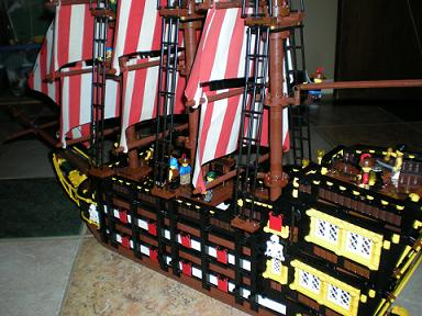harvest moon pirate ship sails masts cannons plank sailors