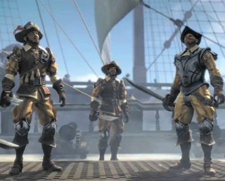 A screenshot from the upcoming POTC Armada of the Damned game, with Spanish characters
