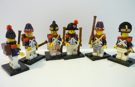 Revolutionary Soldiers, custom-made LEGO minifigs by michaelozzie