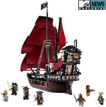 ship pirates caribbean blackbeard crew sails skulls queen anne revenge