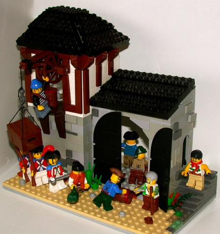 East India Company Trading Post, a land-based MOC built by pif500