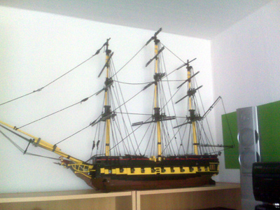 ship moc frigate cannons hms ares achille vesta trincomalee surprise yards sails war class gunports british pirates