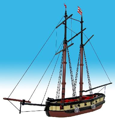 ship pickle trafalgar topsail schooner nelson horatio hms masts windlass guns stern bow sprit brickbuilt hull details decks