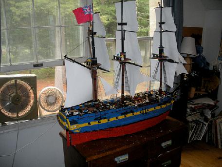 ships schepen hms surprise uss constitution frigates cannons interior pirates sailing sails minifigure scale bricks brickbuilt