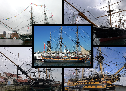 Ship Index reference pictures details masts sails yards capstans helms gunports cannons main mizzen fore top pirates navy uss hms