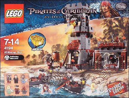 review set pirates caribbean whitecap bay mermaids gold bars light jack sparrow syrena buckets bottles new