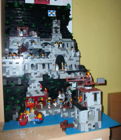 fortress citadel moc lego soldiers imperial guard cannons ships harbor harbour walls tower century