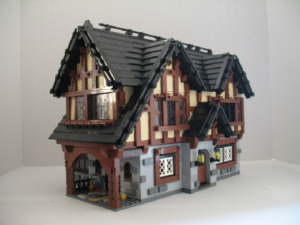 fort town buildings medieval houses wood stone pirates cannons pub tavern techniques moc expert brilliant