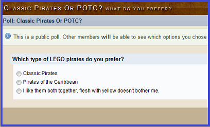 vote discussion poll opinion thoughts tlg group voting pirates caribbean classic soldiers imperial