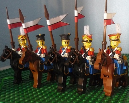 Dutch Red Lancers, customised LEGO minifigs built by michaelozzie