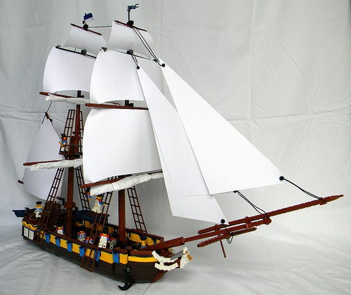 The Admiral Forster, a LEGO Brig by Corioso