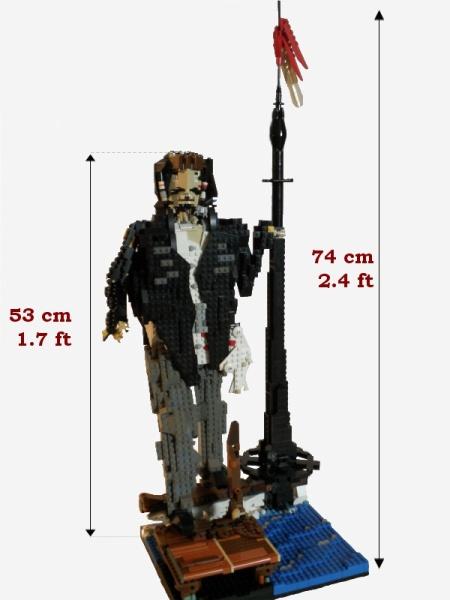 A giant Jack Sparrow figure built by Toltomeja