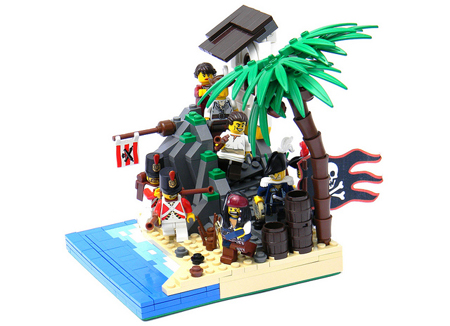 A LEGO pirate creation by Eurobricks member NewRight