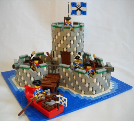 San Miguel Fortress, a land-based LEGO Pirates MOC by Peter deYeule