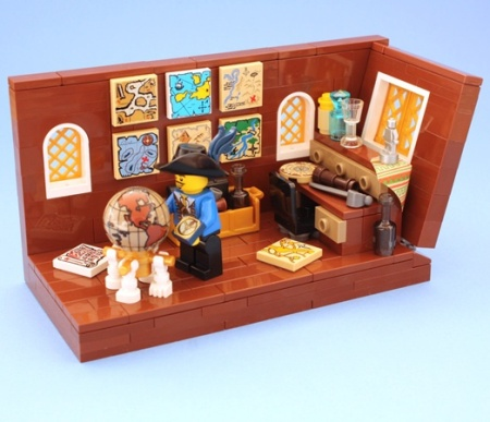 Explorer's Cabin, a pirate LEGO creation by teabox
