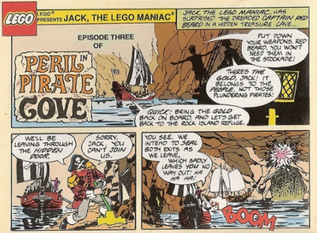 Peril In Pirate Cove – a 1993 LEGO promotional comic