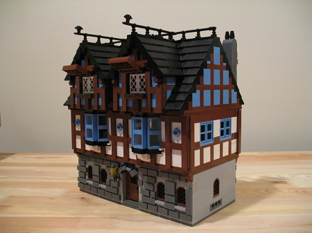 buildings houses shops fort imperial bluecoats redcoats pirates windows lattice work chimney