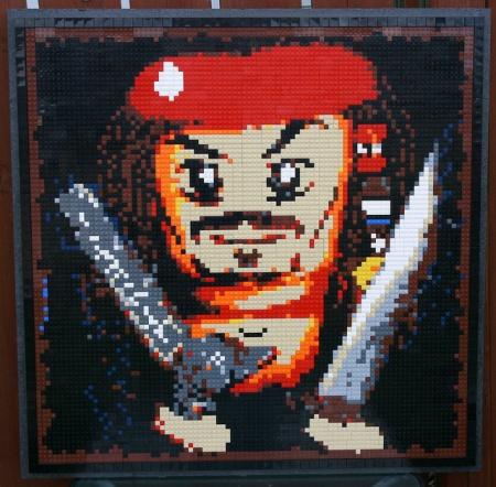 Jack Sparrow mosaic, a LEGO creation by BrickWares