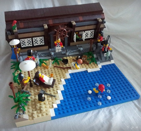 It's not a bad life for the Red Coats - an island-based LEGO MOC by - Spark -