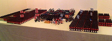 Three Armies, Commodore Hornbricker's collection of LEGO soldiers