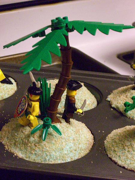 lego pirates cupcakes islanders tree cakes eating desolated