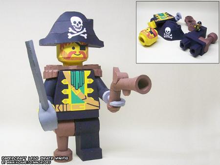 captain redbeard pirates LEGO paper cutlass parts minifigure minifig eyepatch