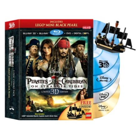 The new Pirates of the Caribbean: on Stranger Tides Blu-Ray and DVD set with free Mini Black Pearl.