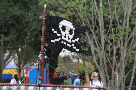 The Pirate Miniland display at LEGOLAND Florida