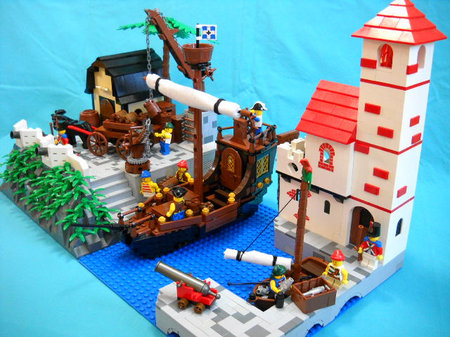 LEGO Pirate MOC Imperial Trading Post Redux by Peter deYeule