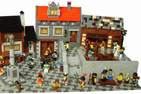 LEGO Pirate MOC Piazza by Hardegon