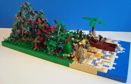 Treasure Island, a Pirate LEGO creation by Captain Flint