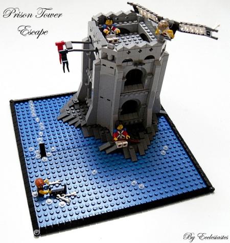 Prison Tower Escape - a Pirate LEGO MOC by Ecclesiastes