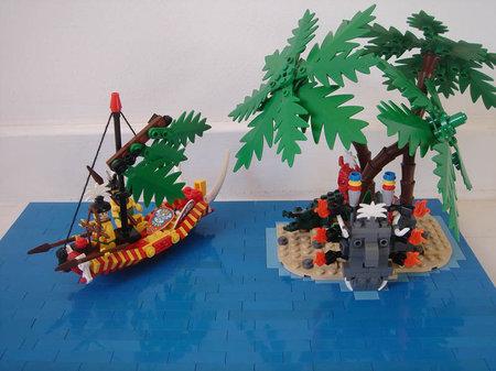 LEGO Pirate Islanders Palmsail Canoe MOC Sebeus Iniwum