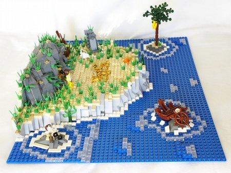 LEGO Pirate Castaway Island MOC Flare
