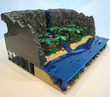 Waterfall - a LEGO MOC by rdennis81