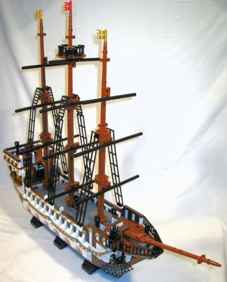 The Royal Navy Command Ship, a LEGO MOC by Thoy Bradley