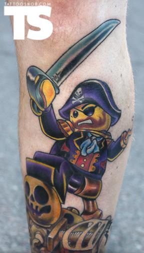 Lego Pirate tattoo