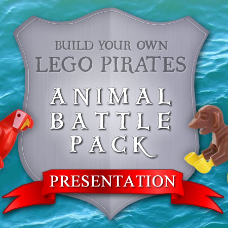 Build your own LEGO Pirates Animal Battle Pack Presentation graphic