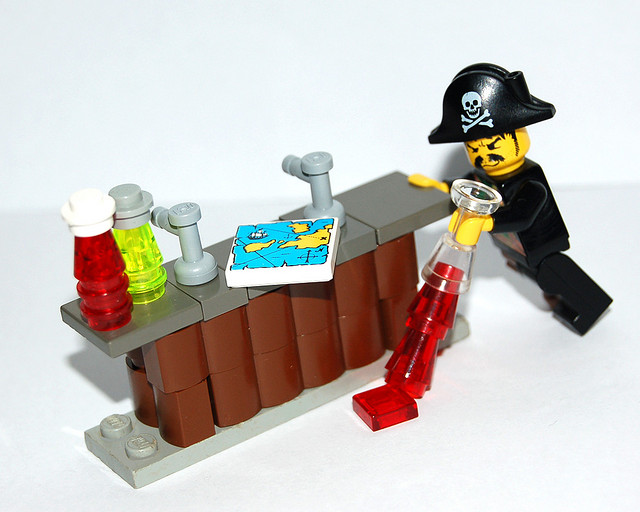 Pirate at a bar