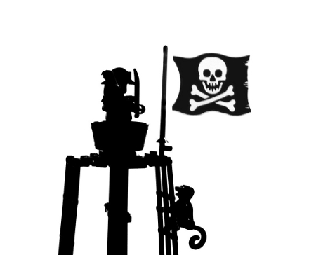 Black and White Pirate Photo